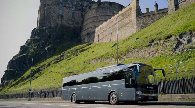 Yutong electric coaches for Scotland on Dundee-Edinburgh route