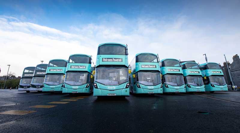 Aberdeen hydrogen double-decks go into operation