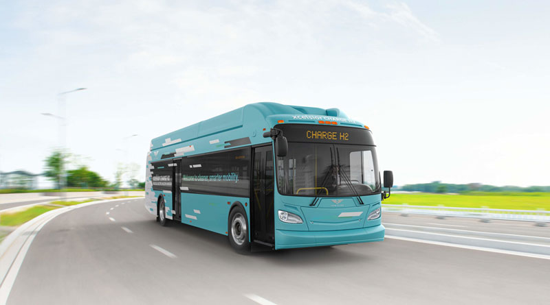 California's GET bus adds five more New Flyer fuel cell buses